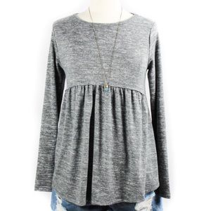 Isabel Maternity | Baby Doll Gray Top XS NWT